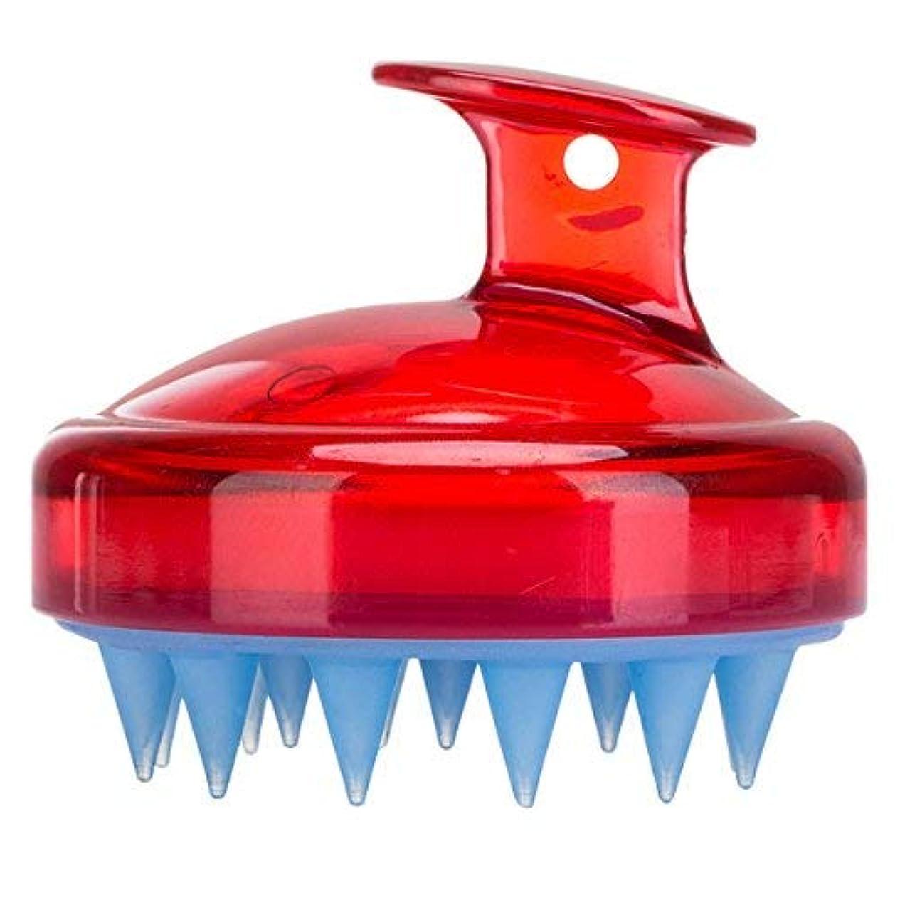 案件第植物のFrcolor Hair Scalp Brush Shampoo Massager Silicone Shower Hair Brush [並行輸入品]