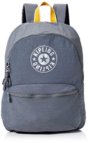 Kipling Kiryas Women's Backpack, Grey (Dark Carbon Y), 32.5x44x12.5 Centimeters (B x H x T)