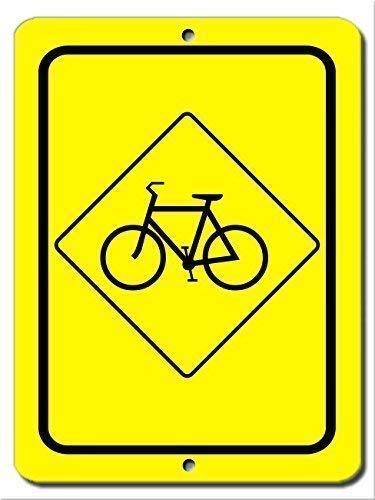 BDTS Metalen waarschuwingsbord 8x12 inch teken rustieke metalen teken post fiets teken weg aluminium muur kunst plaque decoratie