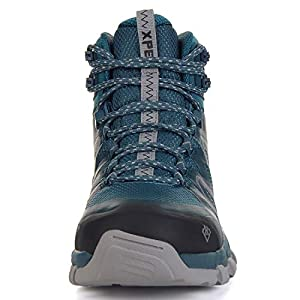 XPETI Men's Wildfire Mid Waterproof Hiking Boot Navy/Silver 11