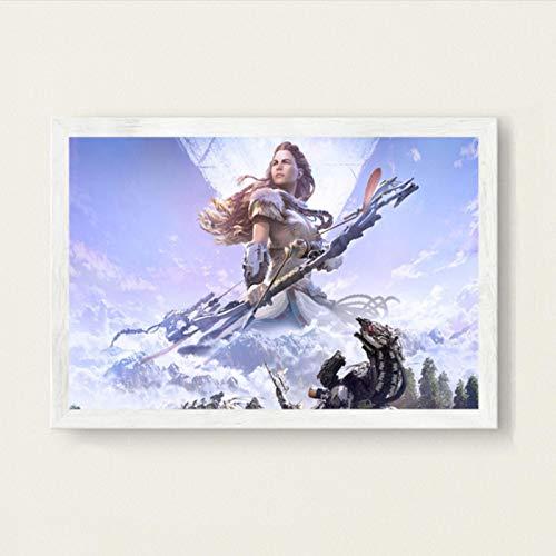 lubenwei Horizon Zero Dawn Game Art Painting Vintage Canvas Poster Wall Home Decor 40x50cm No frame AW-460