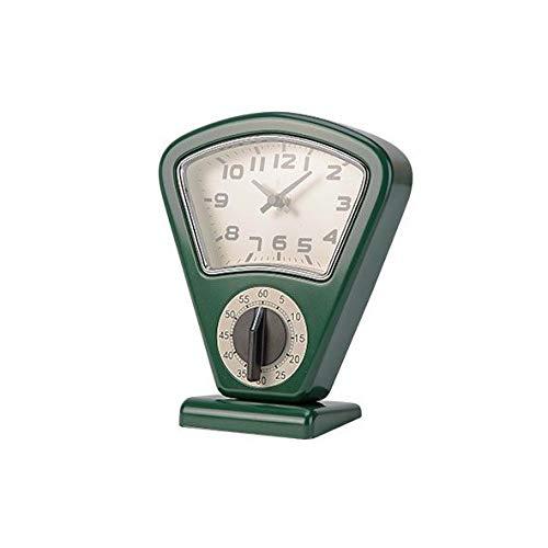 Cosy & Trendy - Reloj de cocina y temporizador (17,5 x 10 x 21 cm), diseño de báscula de cocina, color rojo