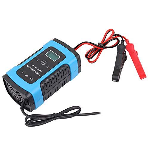 VVEMERK Comprobador de batería de coche, cargador de batería de coche, cargador de batería de coche, arranque, 12 V