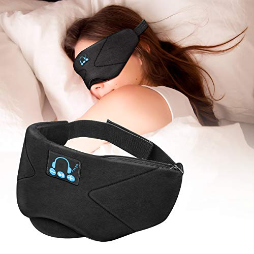 Laelr Auriculares de Dormir Bluetooth, Music Sleep Eye Shades 5.0 Diadema Bluetooth...