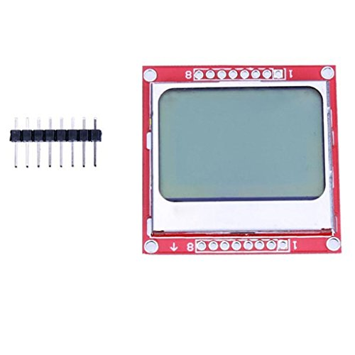 ICQUANZX 84X48 Nokia 5110 Módulo de Pantalla LCD retroiluminación Azul con Adaptador...