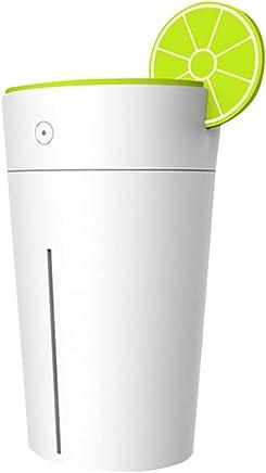 HAPFLY 乾燥対策 空気清浄 上部給水 水補充しやすい 携帯レモンカップ形状の冷霧USB空気加湿器拡張器200ミリリットル容量 卓上 木目調 部屋 会社 SPA美容など適用