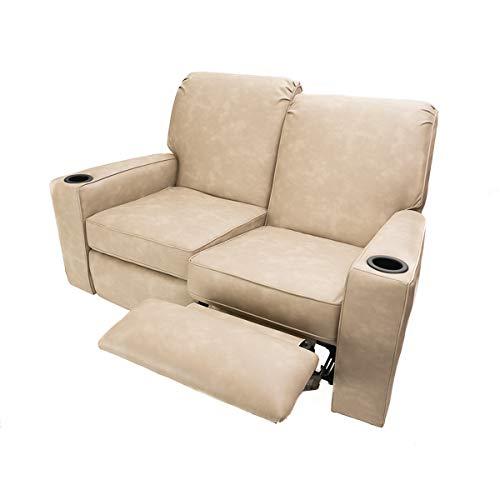 Camper Comfort 58' RV Theater Seat Recliner Color: Skamper Linen | RV Furniture