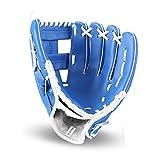 Sports de Plein air Gant de Baseball Softball Pratique Équipement Taille 10,5/11,5/12,5 pour Adulte Homme Femme Main Gauche,Bleu,11.5inches