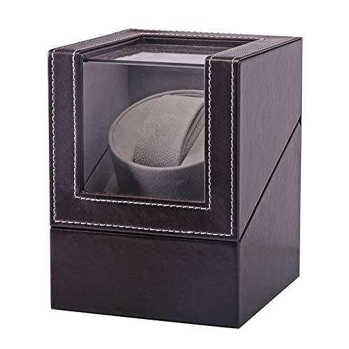 Mira Enrolladores Caja, Aesy Caja Rotatoria de la Coctelera Caja de Cuerda Automática Caja de Cuerda Reloj Caja de Regalo (Marrón)
