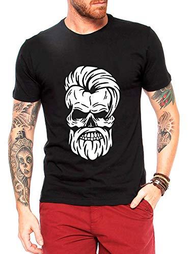 Camiseta Criativa Urbana Caveira Estilosa - Masculina Preto GG