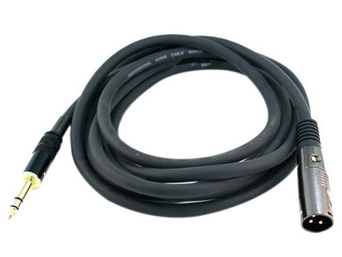 Monoprice 10ft Premier Series XLR Male to 1/4inch TRS Male 16AWG Cable (Gold Plated)