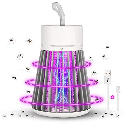 MGRETT Matainsectos UV, trampa eléctrica para mosquitos, trampa para mosquitos LED exterior, lámpara USB para silenciar mosquitos, para interior y salón