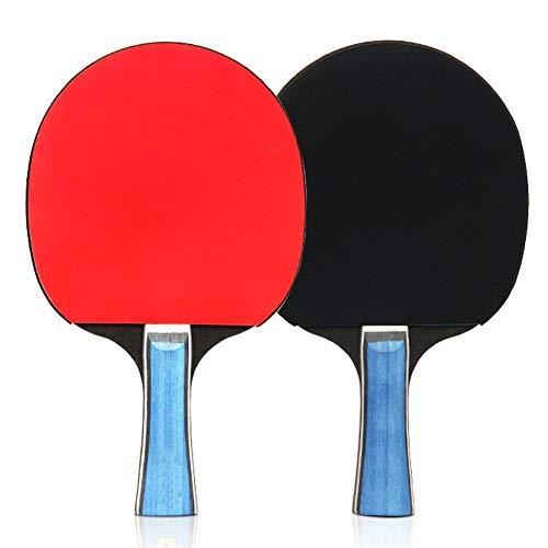 SAIrch Training Racquet Kit, Table Tennis Racket, Ping Pong Paddle Set with Portable Cover Case Bag Professional Game Balls Best Gift for Children.