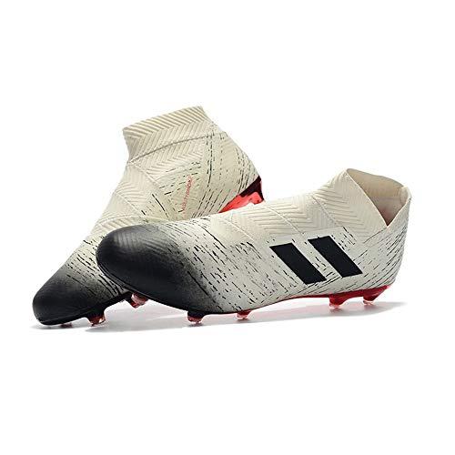 Zapatos Altos de explosión sin Cordones 18+ galvanoplastia FG Zapatos de fútbol de uñas rotas Zapatos de fútbol Masculino