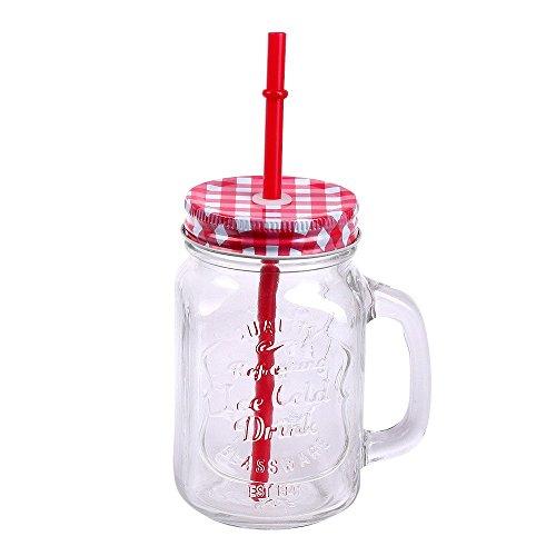Schramm® Paquete de 4 Vasos con Tapa, asa y Pajita Vasos de ...