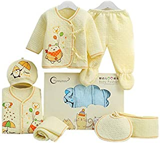 Cute and Lovely Warm Newborn Baby clothes cotton clothes gift 7 sets