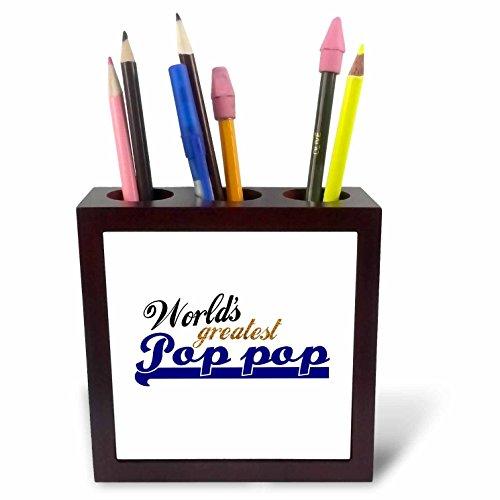 3drose PH 151340 1 chocolade witte tekst op chocolade afbeelding humorvolle geschenken fun voor liefhebbers van chocolade en chocolade liefhebbers Tile pennenhouder, 12,7 cm