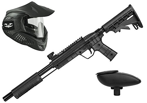Valken Kinder Kids Tactical Gotcha Gun inkl. MI-3 Maske und Loader 120-cal. 50, 0.5 J-Smoke Paintball Markierer Set, grau/Schwarz, M