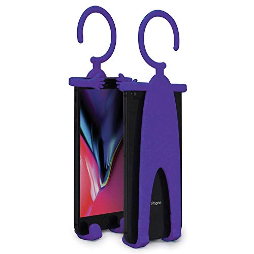 Bondi Plus Flex Phone Holder and Stand - Adjustable Flexible Silicone Case Hanging Mount for Car Bike and Desk up to 6.75