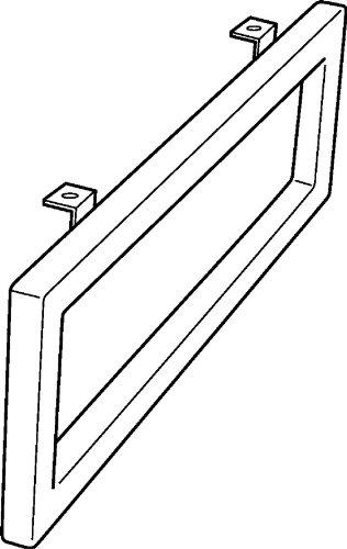Keramag Handtuchhalter Preciosa II, Chrom 48,5x10cm x2cm seitliche Montage, 500750000