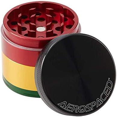 "Black AEROSPACED 2.5/"" 4-Piece Grinder//Sifter"