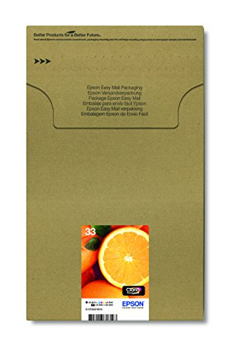 Epson Original 33 Tinte Orange (XP-530 XP-630 XP-635 XP-830 XP-540 XP-640 XP-645 XP-900, Amazon Dash Replenishment-fähig) Multipack 5-farbig