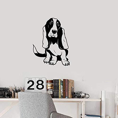 Wandaufkleber,Dog Basset Hound Decal Vinyl Room Wall Sticker Decoration For Children Puppy Puppy Bedroom Accessories -42X54Cm