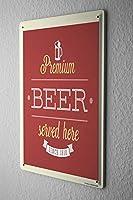 アメリカン 看板 ビールビールキッチンビール ブリキ 看板 制作ヴィンテージ ブリキ 看板壁の装飾20x30cm