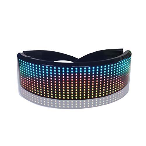 FAMKIT Gafas LED Personalizar Mensajes Gafas LED con Modo Música Iluminar Gafas para Discoteca Fiesta Raves