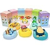 liuyb 6 Unids / Set Figuras De Anime Pokemon Pikachu Jirachi Eevee Komala Snorlax Bulbasaur Starry Dream Series Figuras De Anime Modelo Muñecas Juguetes Regalos para Niños