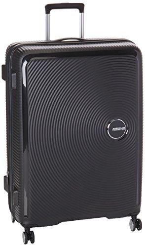 American Tourister Curio Hardside Spinner Suitcase, 55 Centimeter, Black