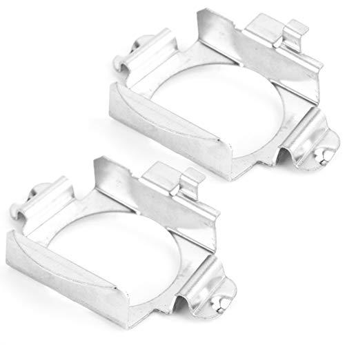 Adaptador H7 LED, par de bombillas LED H7 para faros delanteros Adaptador Soporte Base de enchufe Soporte de retención Clips de montaje Soportes para faros delanteros de coche para M_ercedes - Benz F_