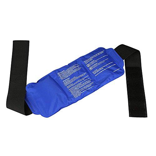 AZX Reutilizable Gel compresa fría Caliente Bolsa de Hielo con Correa Flexible Dolor Fresco cojín de Calor para la Espalda Hombro, Cuello, Cintura, Rodillera, codera