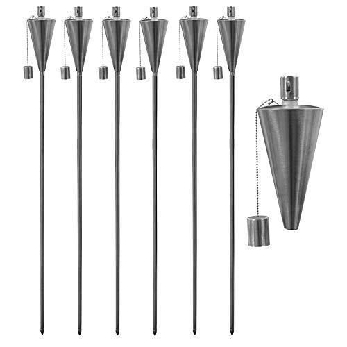 Torche pour le jardin - huile/paraffine - 1460 mm/forme triangulaire - lot de 12