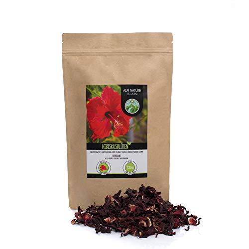Infusión de flor de hibisco (125g), flores de hibisco enteras, té de flor de hibisco secado suavemente, 100% puro y natural