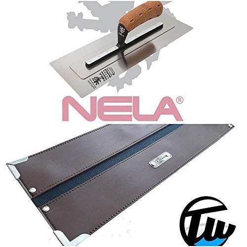 NELA Premium Chromstahl Gl/ättekelle 455 x 120mm rostfrei Gl/ättkelle Traufel Gl/ätter 100/% Made in Germany