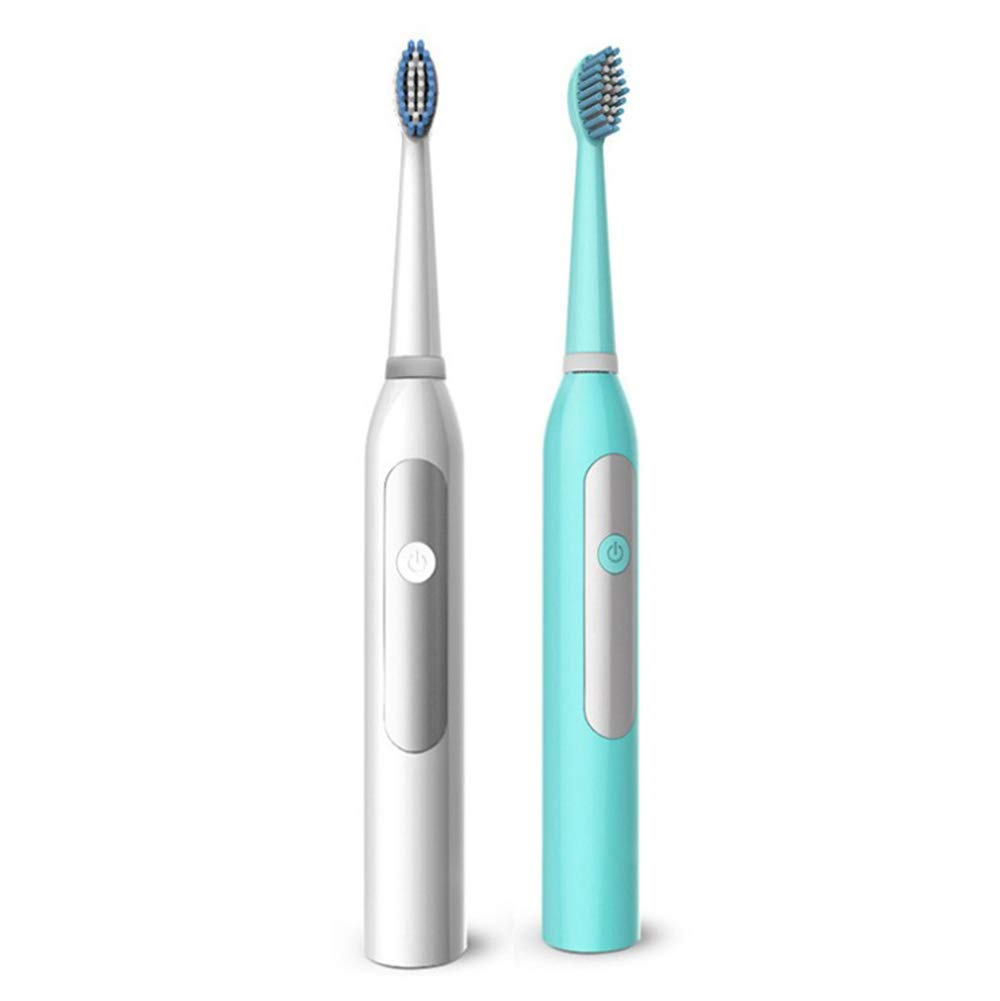 ZGYQGOO Electric Toothbrush U-Type Automatic Adult Models Home Super Wave Lazy Toothbrush Whitening 360 /° Ultrasonic Toothbrush U-Head Electric Toothbrush,Blue