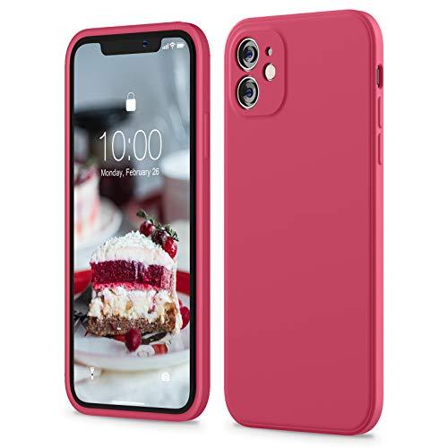 SURPHY Cover Compatibile con iPhone 11, Custodia in Silicone per iPhone 11 Cover Antiurto con Protezione Individuale per Ogni Lente, Full Body Protettiva Case per iPhone 11 6.1 Pollici, Ibisco