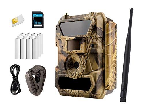 ICUserver 3G Wildkamera (3G GPRS GSM), 3G Überwachungskamera, FOTOAPP, Jagdkamera, 0,4s Auslösezeit, Fotofalle, SIM-Karte inkl, europaweiter Empfang (50° Linse, inkl Batterien und SD Karte)