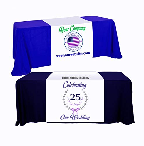 Custom Table Runner with Your Logo or Design - Tradeshow vendor custom logo table runner, craftshow (3' x 5.67') with Free Design