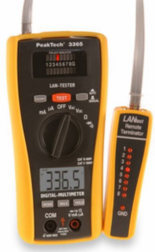 PEAKTECH - 3365 LAN-Tester mit digitalem Multimeter, 685010