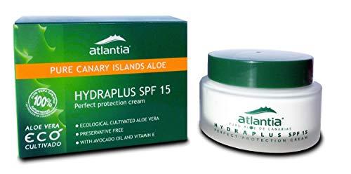 50 ml Hoogwaardige gezichtsbeschermingscrème Canary Organic Aloë Vera met avocado-olie, vitamine E en UVA/B-filter 15+. Zonder conserveringsmiddelen. Natuurlijke Anti-Ageing Vochtinbrengende Crème