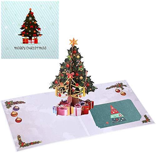 Tarjetas de Navidad,3D Pop Up Tarjetas de Felicitación de Navidad con Sobres Tarjetas de Felicitación Tarjetas...
