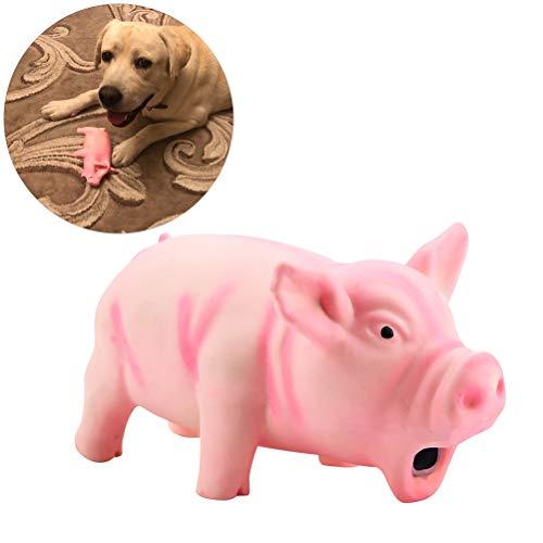 Phayee Süßes Latex Schwein Grunzen Sound Spielzeug, Nettes Latex-Schwein, das stöhnendes gesundes Spielzeug-Haustier-Kau-Zahn-knirschendes Spielzeug für Hundetraining grunzt
