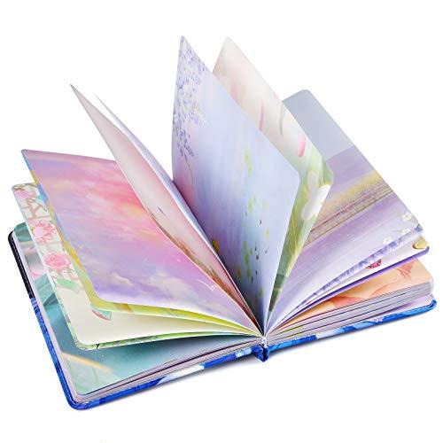 diario in pelle, diario donna pelle, colorato, con copertina rigida, diario personale, bellissimo diario da scrivere, regalo per donne e ragazze, 258 pagine (deep blue&girl)