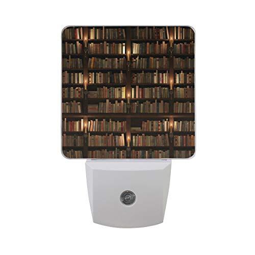 AOTISO Boekenplank Mystieke bibliotheek met kaarsverlichting Autosensor Nachtlampje Plug in Indoor