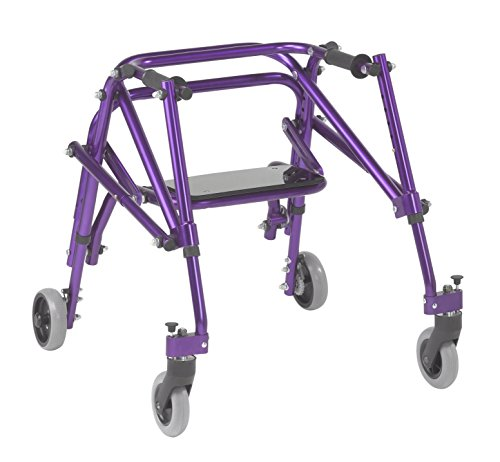 Inspired by Drive Nimbo 2G Lightweight Posterior Walker with Seat, Wizard Purple, Small