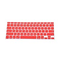 ソフト耐久性のあるキーボードステッカー9色シリコンキーボードカバースキンfor Apple for Macbook Pro for Mac 13 15 Air 13米国モfor Dell#828新-Red-