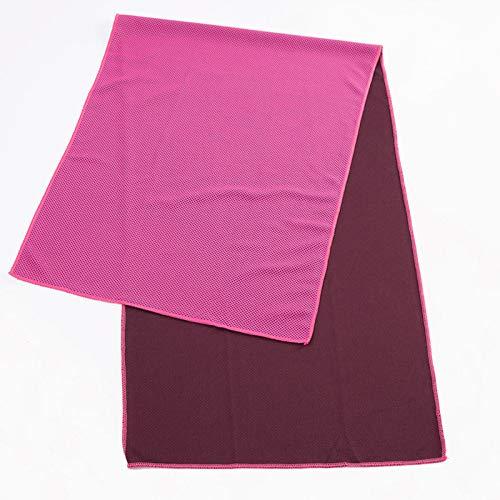 TAOtTAO_Sticker Handtuch Schnell Trocknendes Handtuch Kalt Sinn Handtuch Sport Kühltuch Cool EIS Seide Sport Eiskalt Handtuch 30 * 90cm Farbtaschen Rosenrot