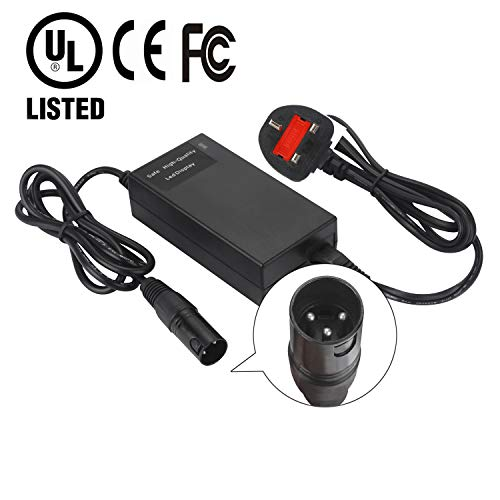 HWX 24V 2A Scooter Battery Charger for Jazzy Power Chair,Pride Hoveround Mobility,Schwinn S300 S350 S400 S500 S650,Ezip 400 500 650 750 900 Mountain Trailz,Shoprider,Golden Buzzaround Lite